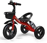 GST Triciclos Triciclo Triciclo Triciclo- Cochecito de bebé Triciclo para niños pequeños (0~5 años), Viaje con Titular de hervidor, Carrito Rojo