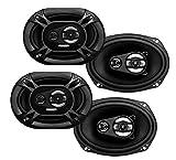 4) Soundstorm SSL EX369 6x9' 3-Way 300 Watt Car Audio Stereo Coaxial Speakers