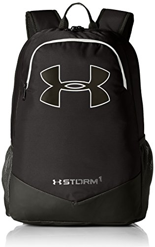 Under Armour Boy's Storm Scrimmage Backpack, Black (001)/Silver, One Size Fits All