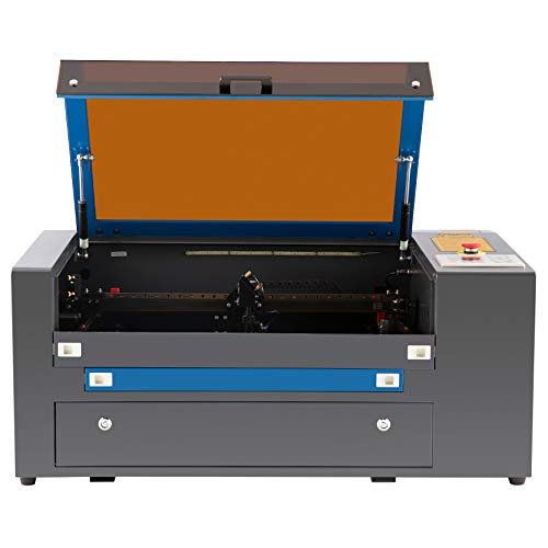 OMTech 50W CO2 Laser Engraver and Cutter for Wood Leather Rubber More with 20x12 inch Bed, Ruida Control Panel, RDWorks, Air Assist, Digital Power Supply, and Rotary Axis for Home DIY Office