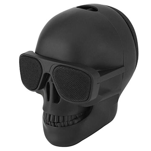 Bluetooth Speaker, Creativity Skull Head Bluetooth Speaker, Portable Wireless Stereo Sound Speaker, for Indoor and Outdoor Parties, Travel, Home Decor (Small)
