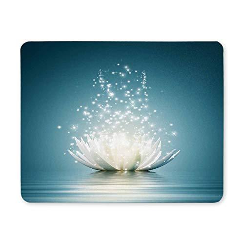 InterestPrint Spiritual Meditation Yoga Magic Lotus Flower Rectangle Non-Slip Rubber Laptop Mousepad Mouse Pads/Mouse Mats Case Cover for Office Home Woman Man Employee Boss Work