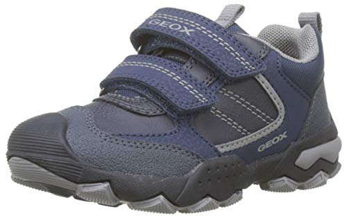 Geox Jungen J BULLER Boy D Sneaker, Navy/Grey, 39 EU