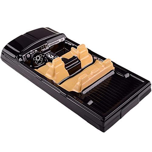 Vaorwne RC Auto Innen Dekoration für 1/10 Axial SCX10 II 90046 90047 TRX4 K?Rper Auto Schale, Schwarz