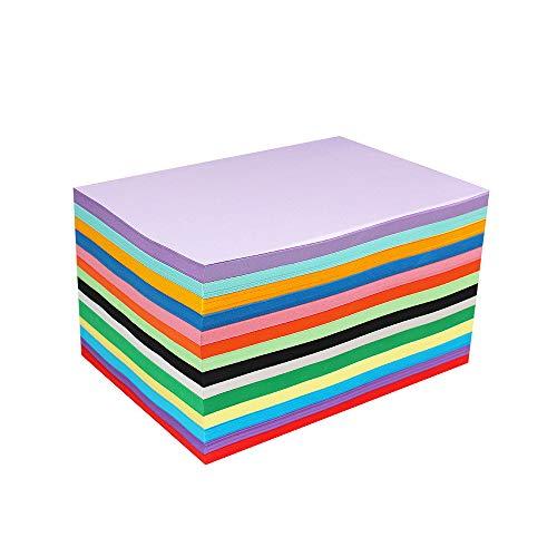 100 Blatt A4 Buntpapier, 100 g/m² Kopierpapier Papier, Bastel-Papier zum DIY, Basteln Papierblumen, Durchzeichnen und Skizzieren