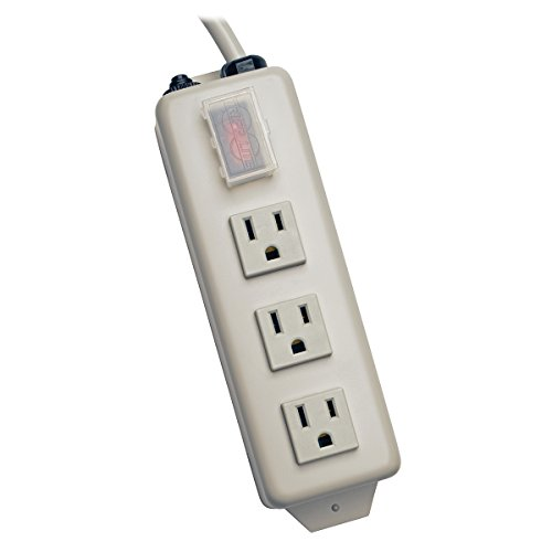 Tripp Lite 3 Outlet Home & Office Power Strip, 6ft Cord with 5-15P Plug (TLM306NC)