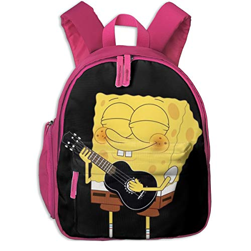 Spongebob Gitarren-Rucksack, Cool Boy Girl Universal Canvas Tasche Reisetasche, Rose (Pink) - Pink-48