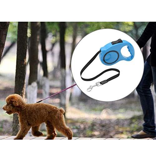 Tuzi Qiuge Haustier-Leine Hundeleine Haustier einziehbare Leine Starke automatische Erweiterung Pet Gehen Leads, Länge: 5m (Color : Blue)