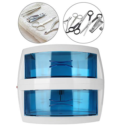 Caja de Esterilizador UV 9W de Doble Capa, Estuche de Esterilizador Limpio para Desinfección Profesional en el salón con desmontable para herramienta de uñas dental