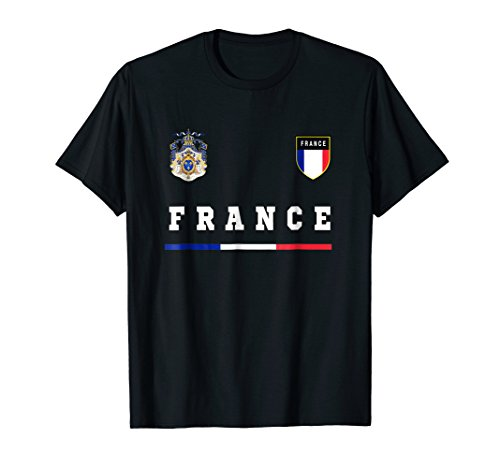 French T-shirt Sport/Soccer Jersey Tee Flag Football Paris