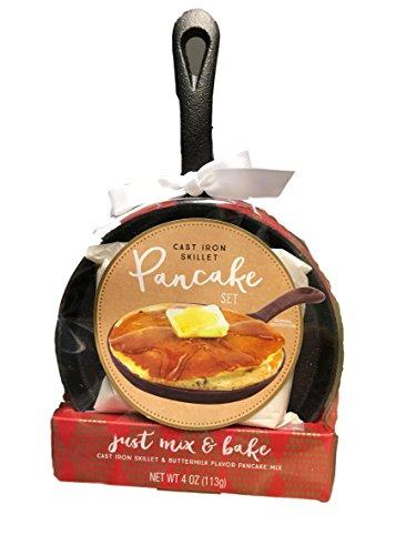 Cast Iron Skillet with Pancake Set