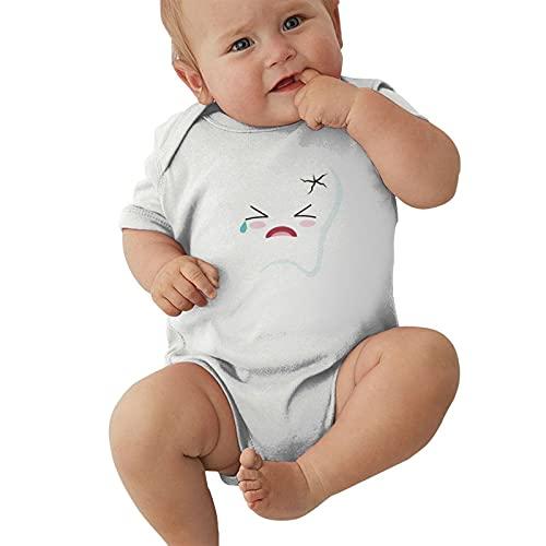 Kawali - Mameluco unisex con dolor de muelas para bebé, blanco, 18 meses