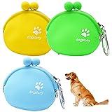 Tianher Bolsa de Comida para Perros Silicona, 3 Piezas Bolso de Silicona para Perros Entrenamiento Impermeable para Perros y Gatos Mascotas Estuches Cachorro Portátil Pet Training Cintura Bolsa