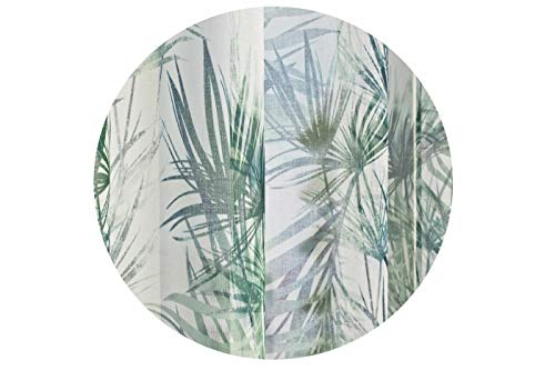 Home fashion sjaal linnenvoile bedrukt, groen, 245 x 140 cm