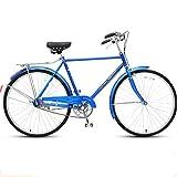 Mzq-yj Urbano Commuter Road Bike, Single-Speed Comfort Adulti della Bici della Strada, Uomini Donne Stile E,B