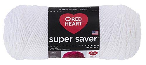 RED HEART Super Saver Yarn, White