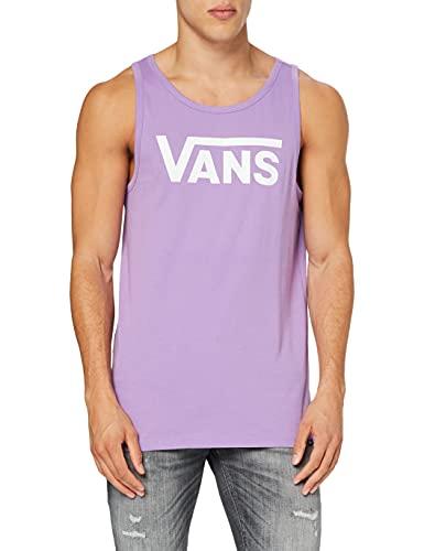 Vans Classic Tank Camiseta de Tirantes Anchos, Lavanda-Blanco Inglés, M para Hombre