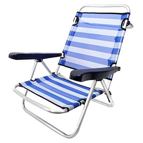 Juinsa 8142600 - Silla playera, 61 x 47 x 80 cm, color azul y blanco