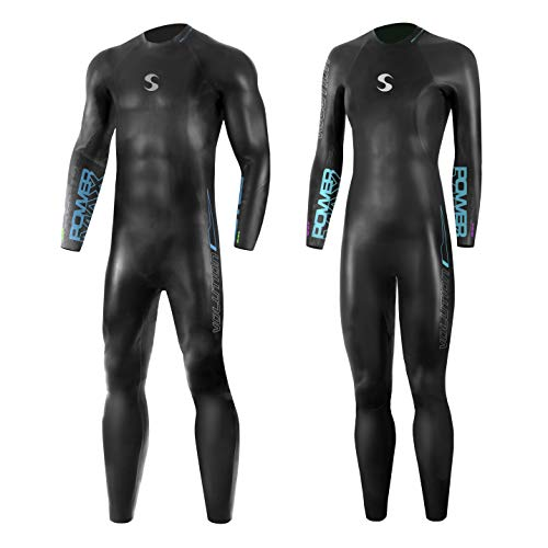 Synergy Triathlon Wetsuit 3/2mm - Volution Full Sleeve Smoothskin Neoprene for Open Water Swimming Ironman & USAT Approved  (Women's W1, Women)