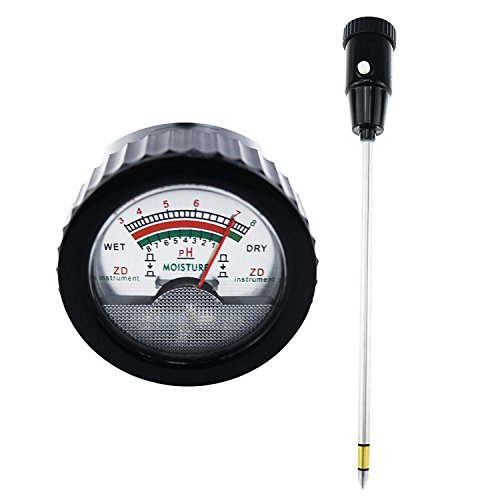 Long Deep 295 mm 11.6 inches No Battery needed Soil pH Moisture Meter Tester Test Kit Probe for Plant Care Garden Lawn Farm Indoor Outdoor