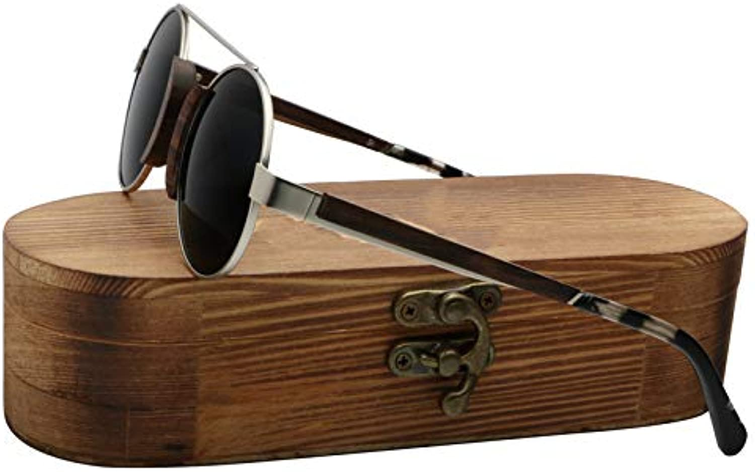 DABAOYA Ladies Wood Sunglasses Women Polarized Small Size Funny Unique Bamboo Wooden Shade for Women in Vintage Wood Box