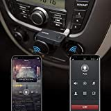 AUKEY Receptor Bluetooth 4.1 para Coche con Manos Libres, Audio Adaptador Portátil Compatible con los Teléfono IOS y Android, Tablet etc