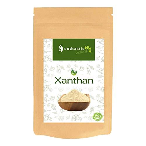 Foodtastic Xanthan 1000g / 1kg | kalorienarme Backzutat für kohlenhydratreduzierte Rezepte | Verdickungsmittel | Premium Xanthan Gum E415 | Alternative zu Tapiokastärke und Johannisbrotkernmehl