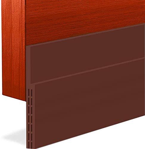 """BAINING Door Draft Stopper Sweep, 3 Inches Widening Door Bottom Seal Strip Under Door Noise Blocker for Interior Doors Insulation and Soundproofing, 3"""" W x 39"""" L Brown (2019 New Upgrade)"""