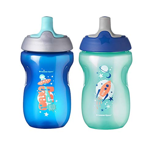 Tommee Tippee Toddler Sportee, Sippy Cup, 12+ months, 10oz, 2ct (Colors may vary)