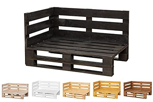 Chaise Longue Sofa PALETS Lijado Y Cepillado Interior/Exterior Nuevo Sillon PALETS/Sofa para Patio (100cm X 60cm, Ebano)