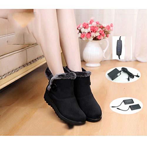 HSTFⓇ Thermostat elektrische heizung Schuhe stecker elektrische heizung Schuhe damenstiefel Lade kann gehen heizung warme Schuhe büro im freien Schneeschuhe (4-5 h)