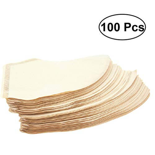 UPKOCH 100 peças Filtro de café descolorido, Copos de papel, coador de café, ferramenta para máquina de café americana, utensílios de cozinha doméstica