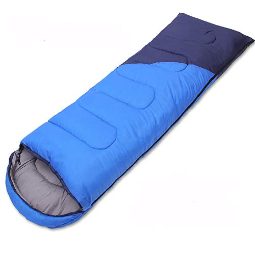 Saco Dormir Rectangular, Saco Dormir para Acampar con Bolsa De Compresión, Impermeable, El Tipo De sobre Se Puede Empalmar, Adecuado para Deportes Al Aire Libre, Senderismo (1.4KG,Blue)