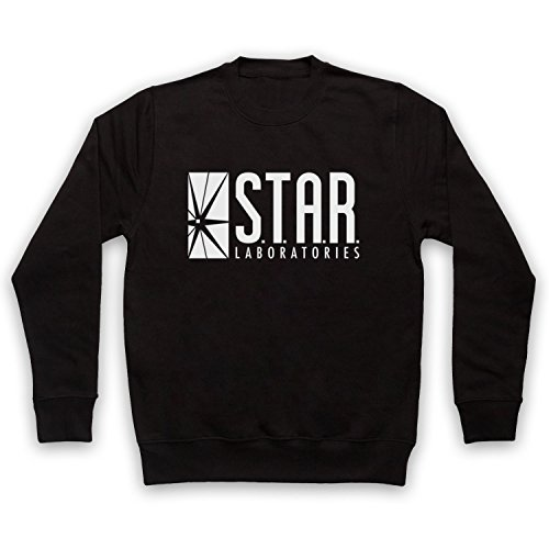 The Flash Star Laboratories Sweat-Shirt des Adultes, Noir, Small