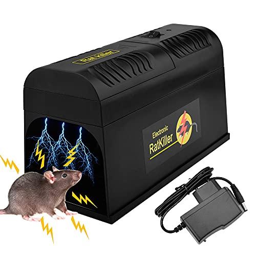 Guijiyi Trappola per Topi, Trappola per Ratti Elettronica, Mouse Killer Elettronico Roditore Topo Zapper, per Catturare al Coperto e all\'aperto Ratto