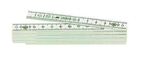 Metrica 19040 Glasfaser-Massstab 1 m, weiß