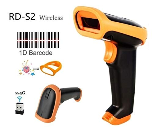Review Of Wireless Barcode Scanner Wired Bar Code Scanner Automatic Scan Handheld 1D/2D QR Code Read...