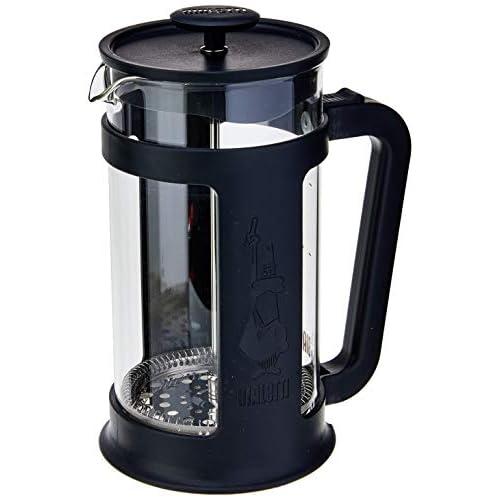 Bialetti 6186 Coffee Press 8 Tazze (1 litro), Caffettiera a pressofiltro per caffè Filtro, infusi e Tisane, Cups, Smart Black