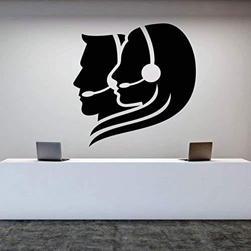 Vinyl Wandtattoo Kundendienst Arbeit Call Center Betreiber Büroangestellter Aufkleber Bürodekoration Aufkleber