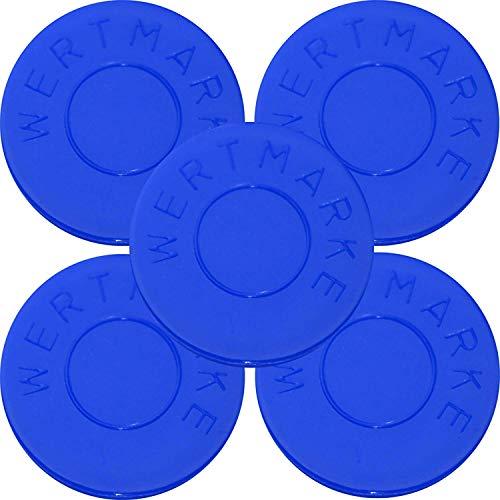 200 Pfandmarken Wertmarken Durchmesser 30mm Farbe Blau mit beidseitiger Aufschrift