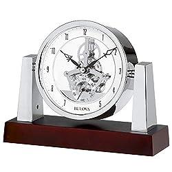 Bulova B7520 Largo Clock, Dark Mahogany Finish