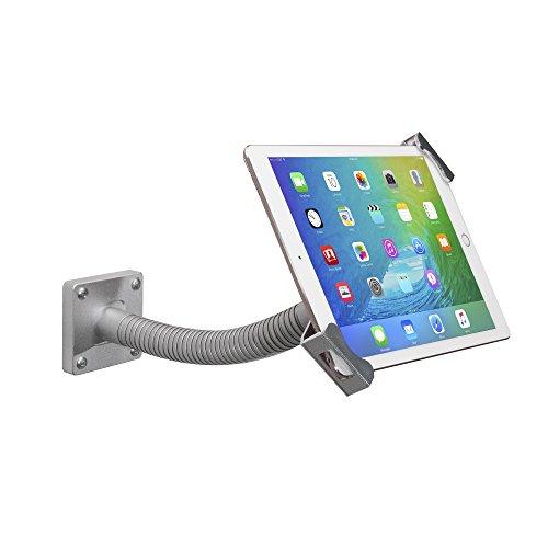 "CTA Digital: Security Gooseneck Tabletop & Wall Mount for 7-13"" Tablets/iPad 10.2-inch (7th & 8th Gen.), iPad Air 3, iPad Mini 5, 12.9-inch iPad Pro,iPad Gen 6, Surface Pro 4 & More, Silver"