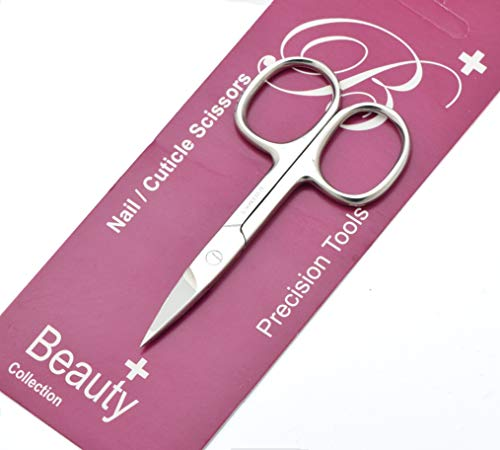 Nail Scissors for Women & Men use for Manicure Pedicure Hair & Beard Grooming. Professional Stainless Steel STRAIGHT, CURVED, ARROW POINTED Scissor for Nails Cuticle & Hair Removal. (Straight 9cm)
