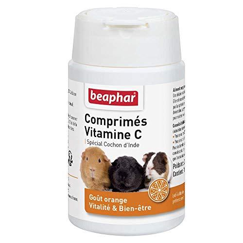 BEAPHAR – Comprimés de Vitamine C pour Cochon d'Inde – Goût Orange – Apporte vitalité et bien-être – Répond aux besoins des cochons d'Inde en Vitamine C – Bonne santé – 100 pièces