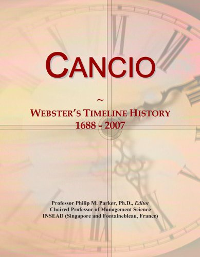 Cancio: Webster's Timeline History, 1688 - 2007