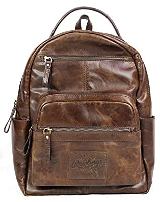 "Rawlings Heritage Collection Leather Backpack (Brown, 15"")"