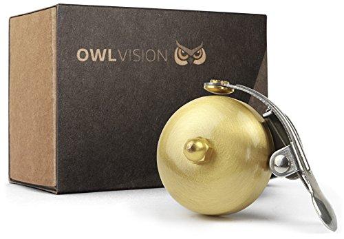 OWL VISION Fahrradklingel Hoot - Classic (Mini Gold)