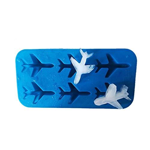ZHJKK Forma de avión de Silicona 3D Forma de Hielo Molde de Bolas Helado Helado Fondant Molde de Chocolate para tortas Decoracion (Color : Blue)