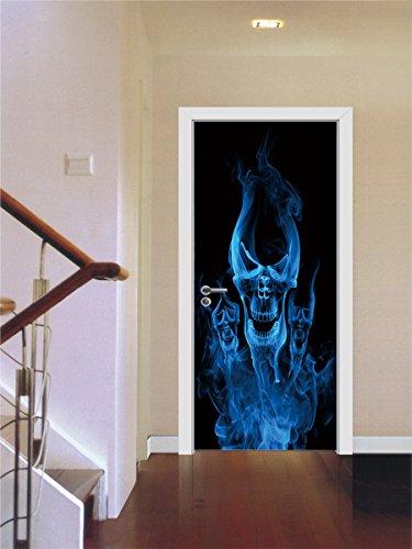 3D maak je sport? Basketball creativity deursticker muursticker afneembare waterdichte vinyl sticker voor slaapkamer huis deur woonkamer kantoor wandsticker decoratie 88x200cm E