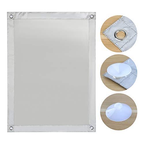 OBdeco Thermo Rollo Dachfenster Sonnenschutz Verdunkelungsrollo für Velux Hitzeschutz ohne Bohren mit Saugnäpfen (Weiß, 60x115cm)